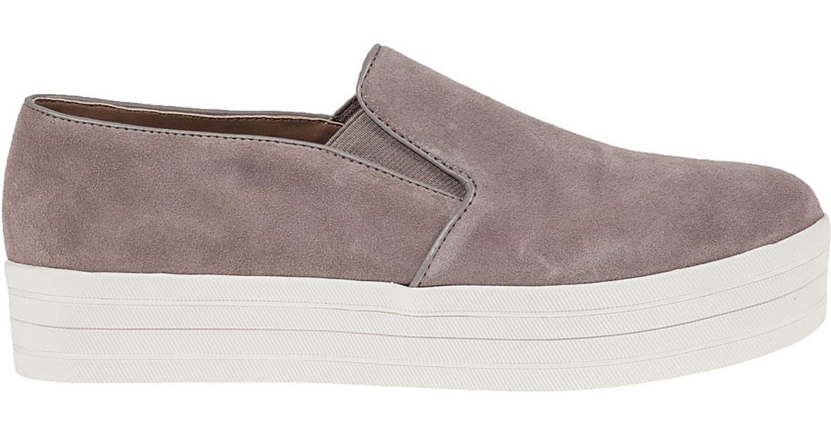 5e50528290d Lyst - Steve Madden Buhba Suede Platform Sneakers in Brown