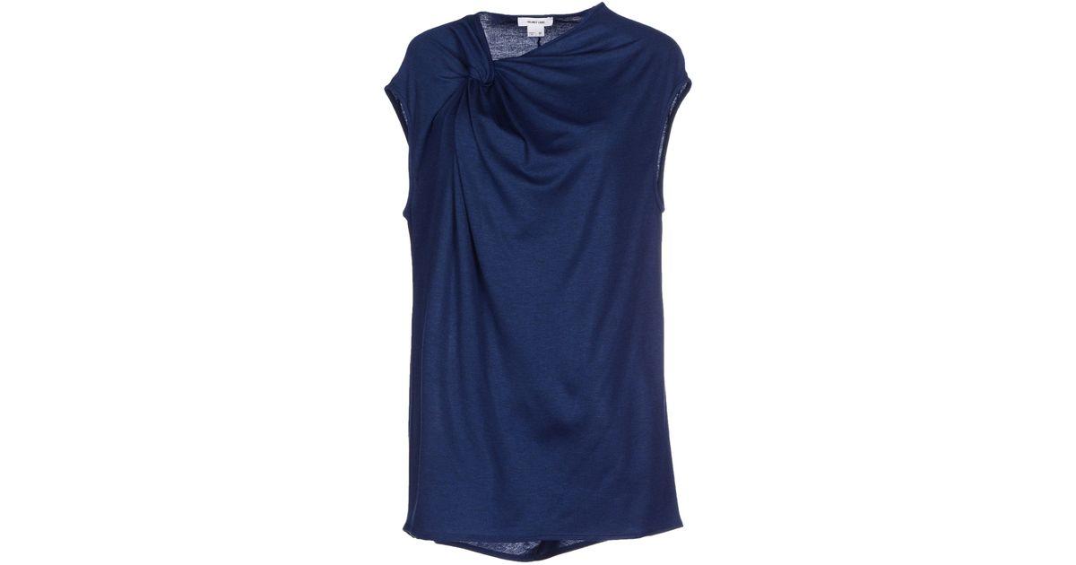 helmut lang t shirt in blue lyst. Black Bedroom Furniture Sets. Home Design Ideas