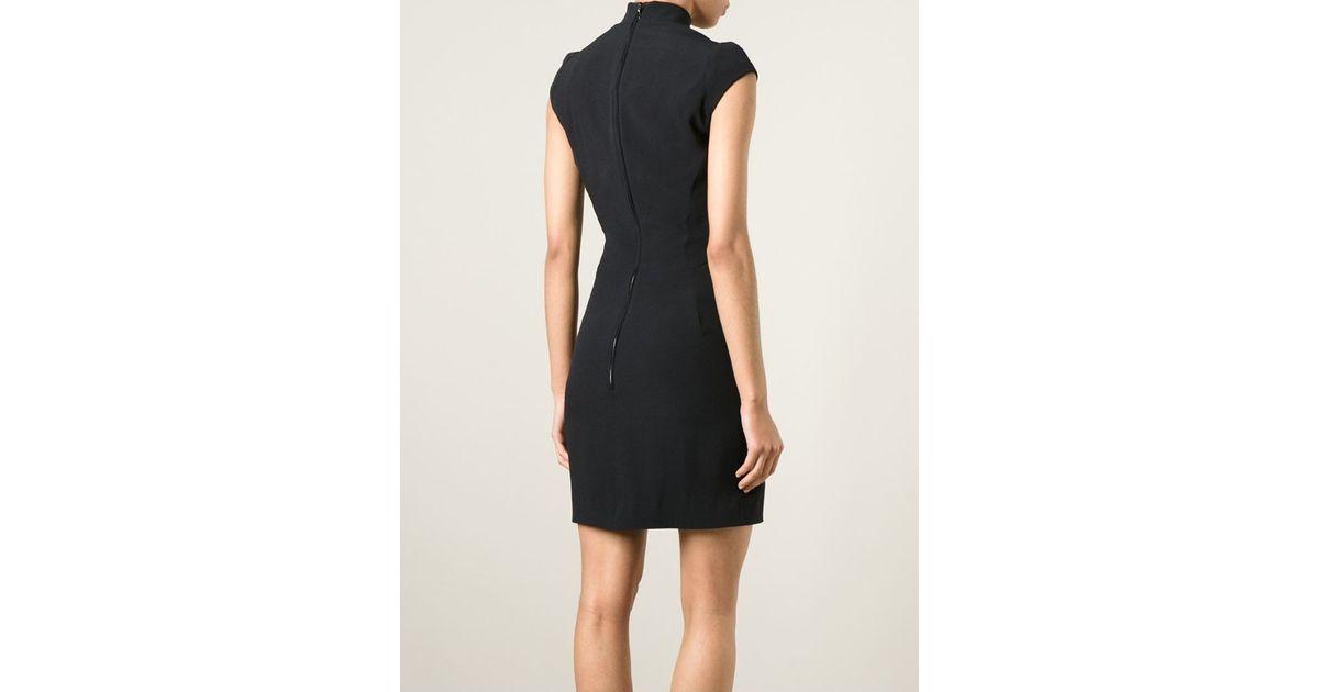 Lyst - Antonio Berardi Front Cut-out Detail Dress in Black