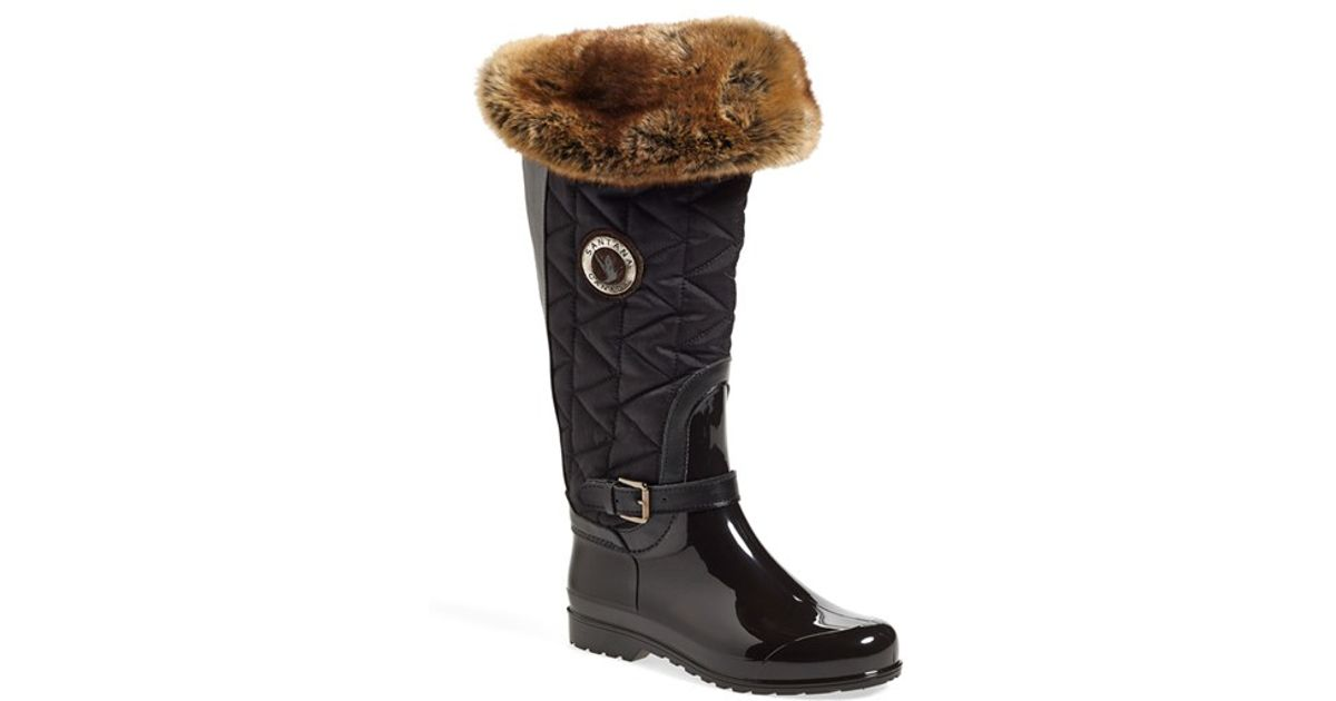 Lyst Santana Canada Clarissa Waterproof Rain Boot In Brown