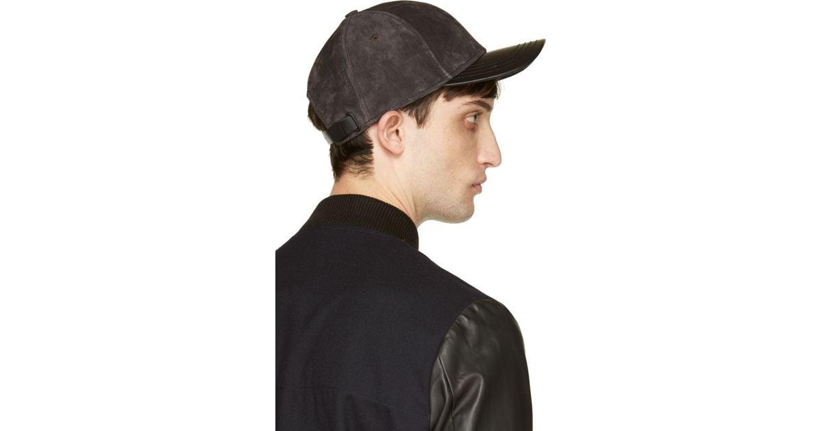 461a8d9397c Lyst - Rag   Bone Dark Grey Suede Baseball Cap in Gray for Men