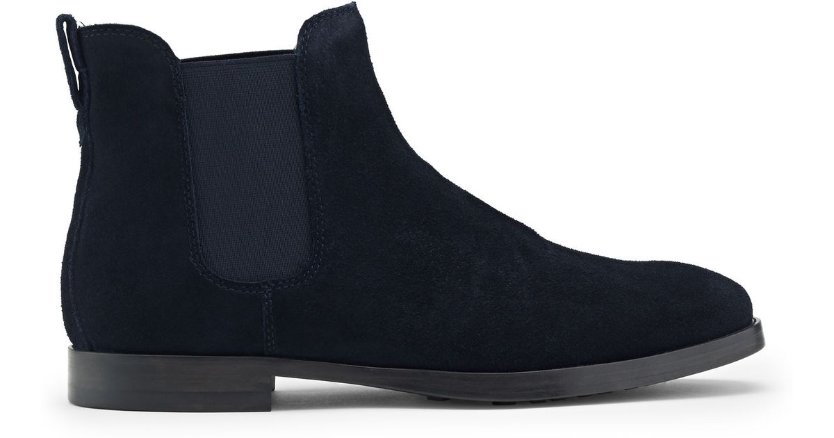 polo ralph dillian suede boot in blue lyst