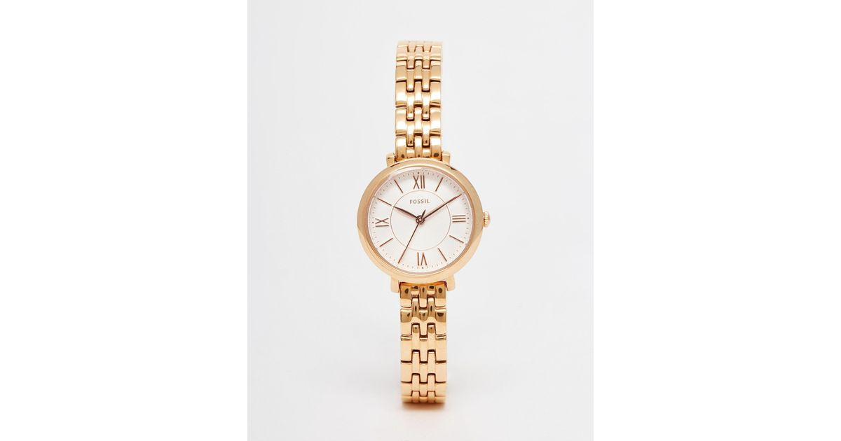 fossil rose gold tailor chrono watch lyst. Black Bedroom Furniture Sets. Home Design Ideas