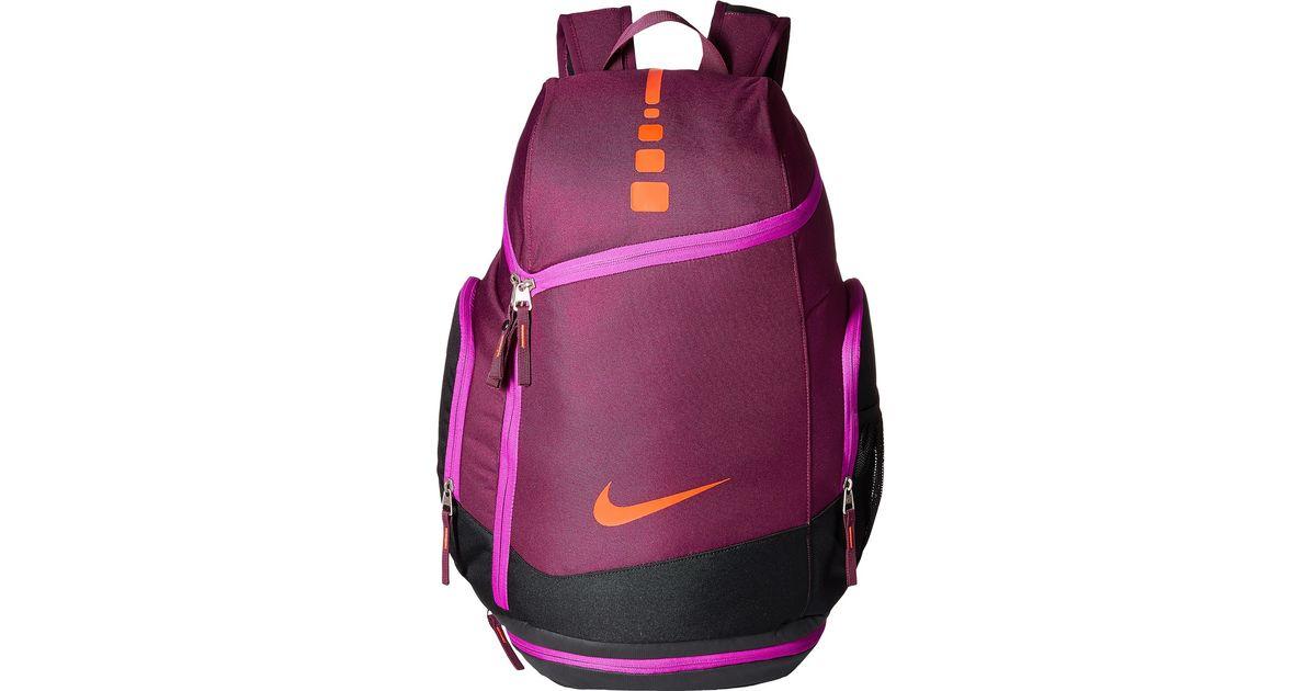 pink nike hoops elite max air team backpack