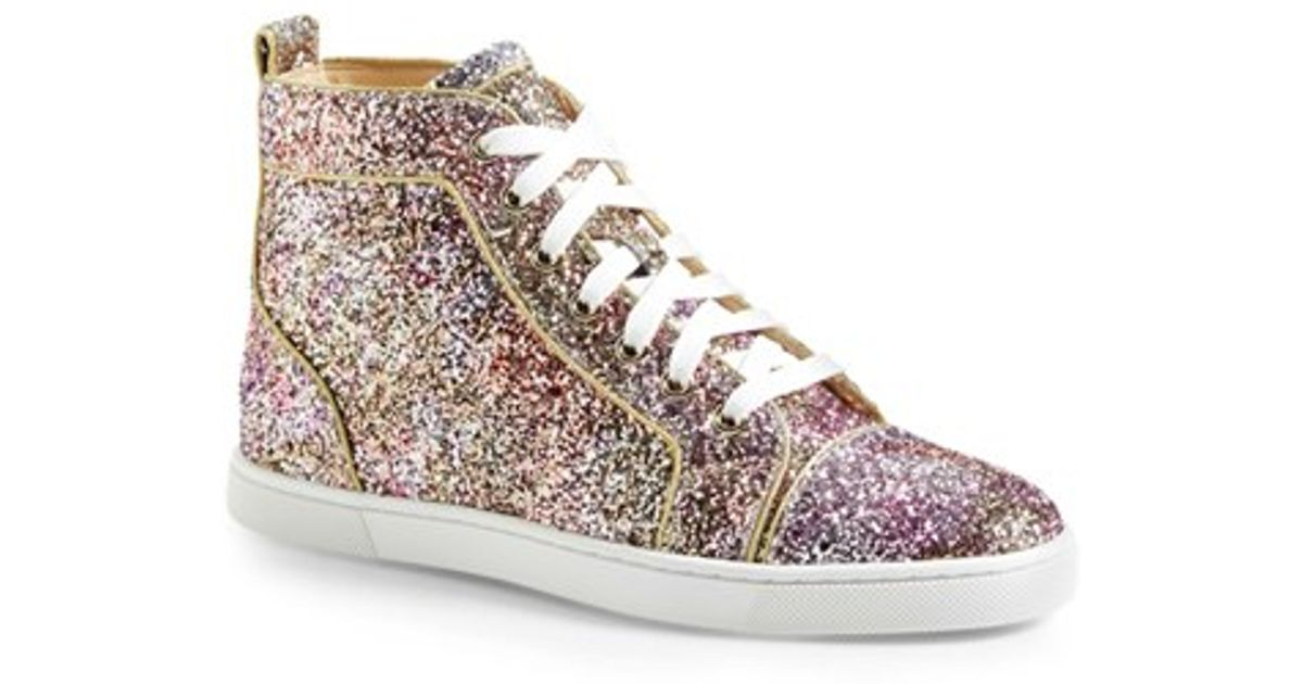 separation shoes aa5eb 86989 Christian Louboutin Multicolor 'bip Bip' High Top Sneaker