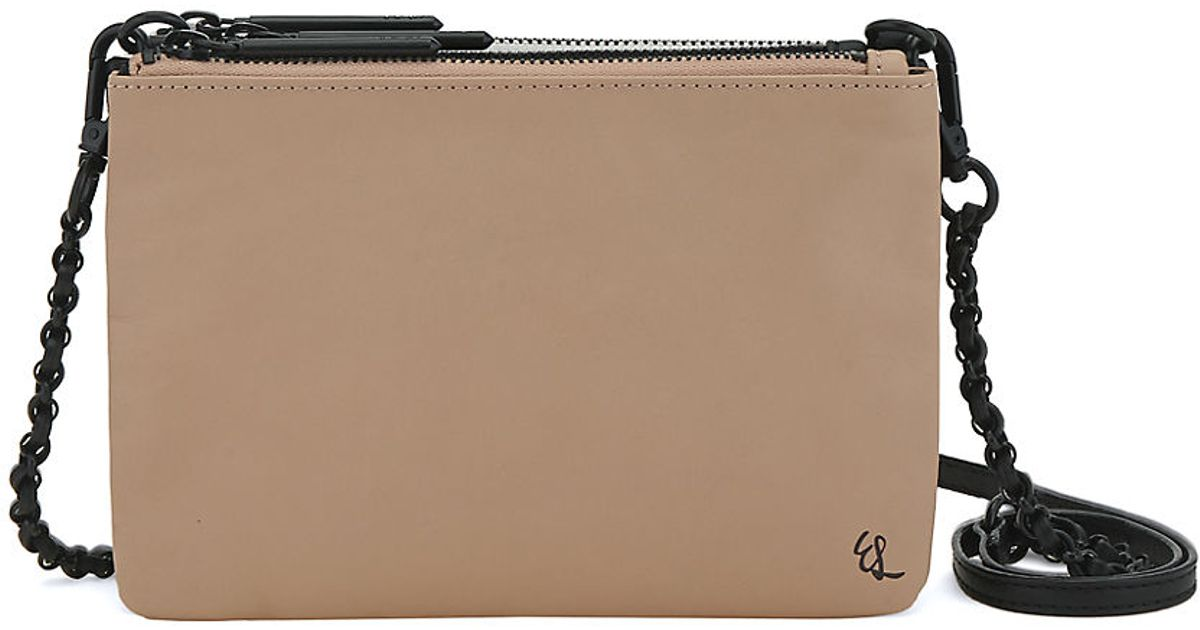 Lyst - Elliott Lucca Sacha Leather Triple-Compartment Clutch in Brown 25e69db182410
