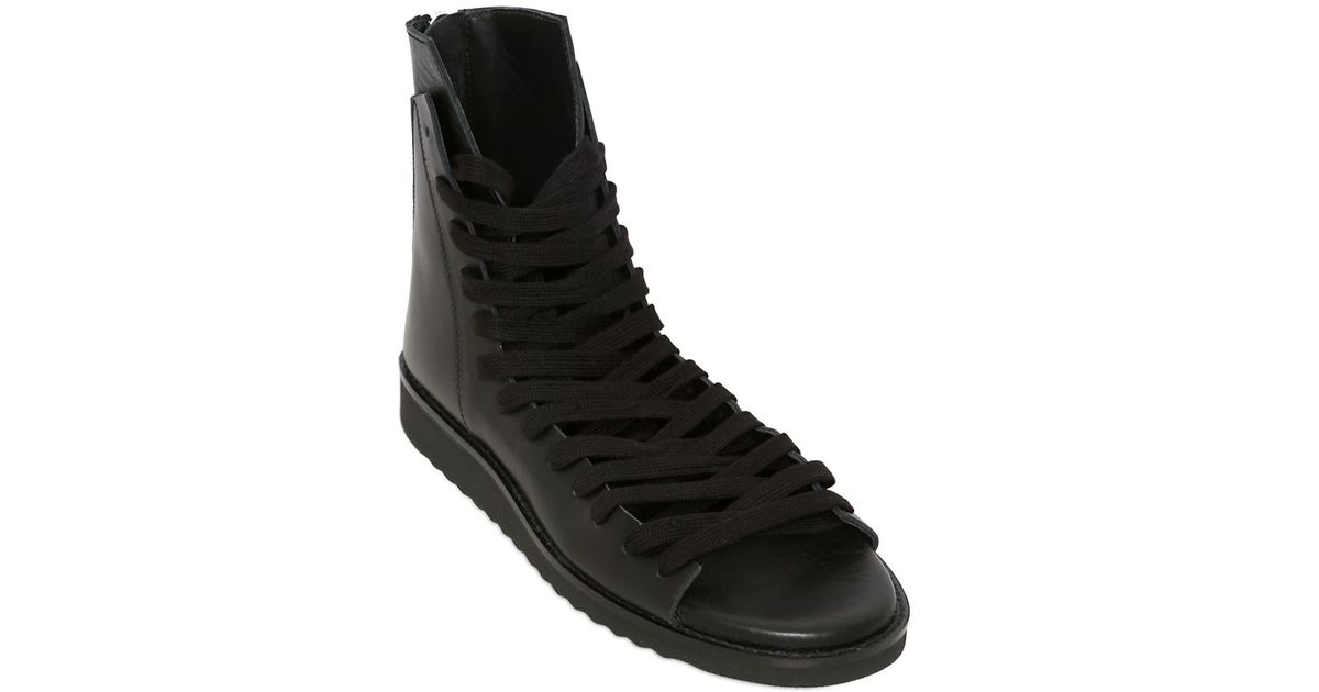 021541d1ae7f1f Kris Van Assche Leather High Top Sandals in Black for Men - Lyst