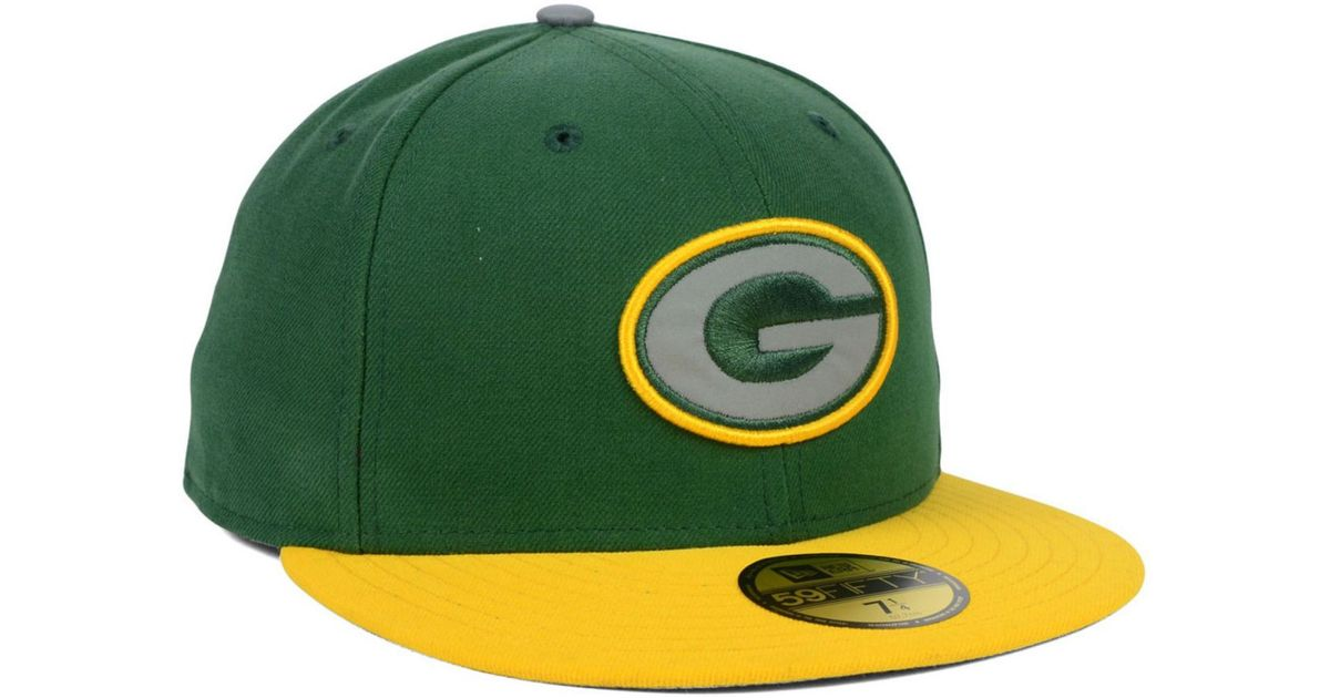 230082da162 Lyst - KTZ Green Bay Packers Thanksgiving On Field Reflective 59Fifty Cap  in Yellow for Men