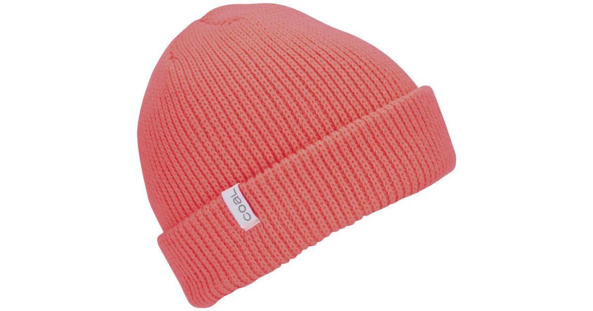ea792e7e80c Lyst - Coal Frena Solid Beanie in Red for Men