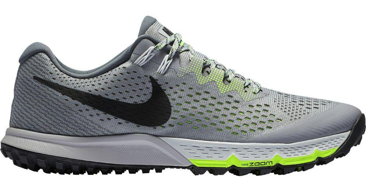 online retailer 486be 2d8e7 Nike Gray Air Zoom Terra Kiger 4 Trail Running Shoe for men