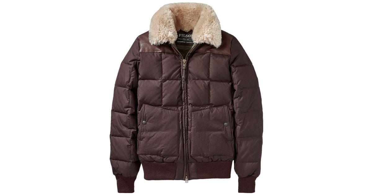 2882f052e Filson Brown Cascade Down Jacket