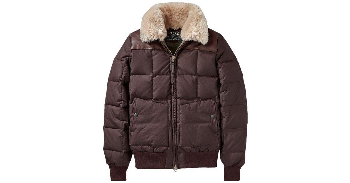 64123eb74 Filson Brown Cascade Down Jacket