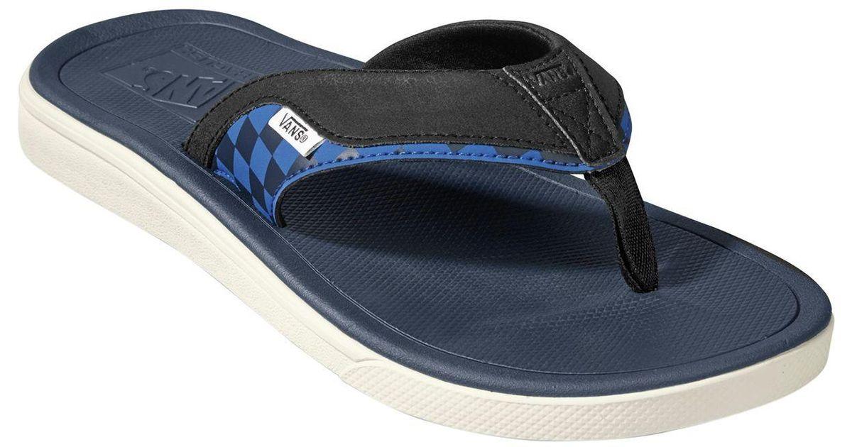 Lyst - Vans Ultrarange V-land Flip Flop in Blue for Men a7606b870