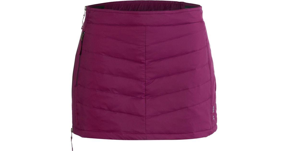f5658f5b10 SKHOOP Mini Down Skirt in Purple - Lyst
