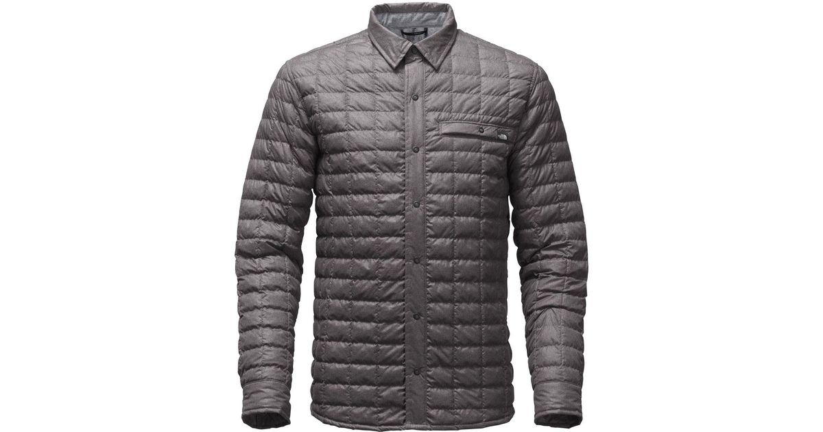 99f8f84e2 The North Face Gray Reyes Thermoball Shirt Jacket for men