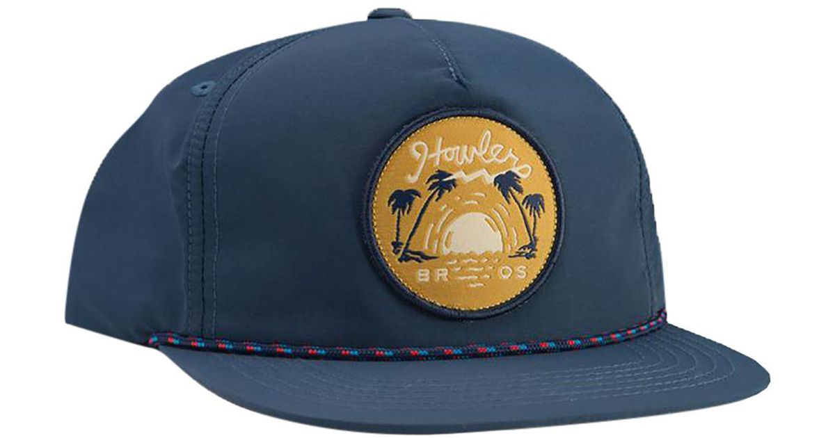 853093b43552a7 Lyst - Howler Brothers Script Sunset Unstructured Snapback Hat in Blue for  Men