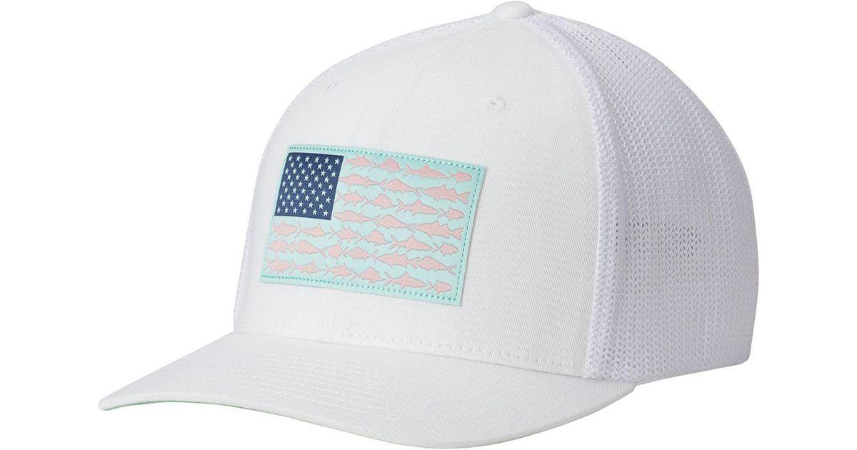 16f4b34f0b0cc Columbia Pfg Mesh Trucker Hat in White for Men - Lyst