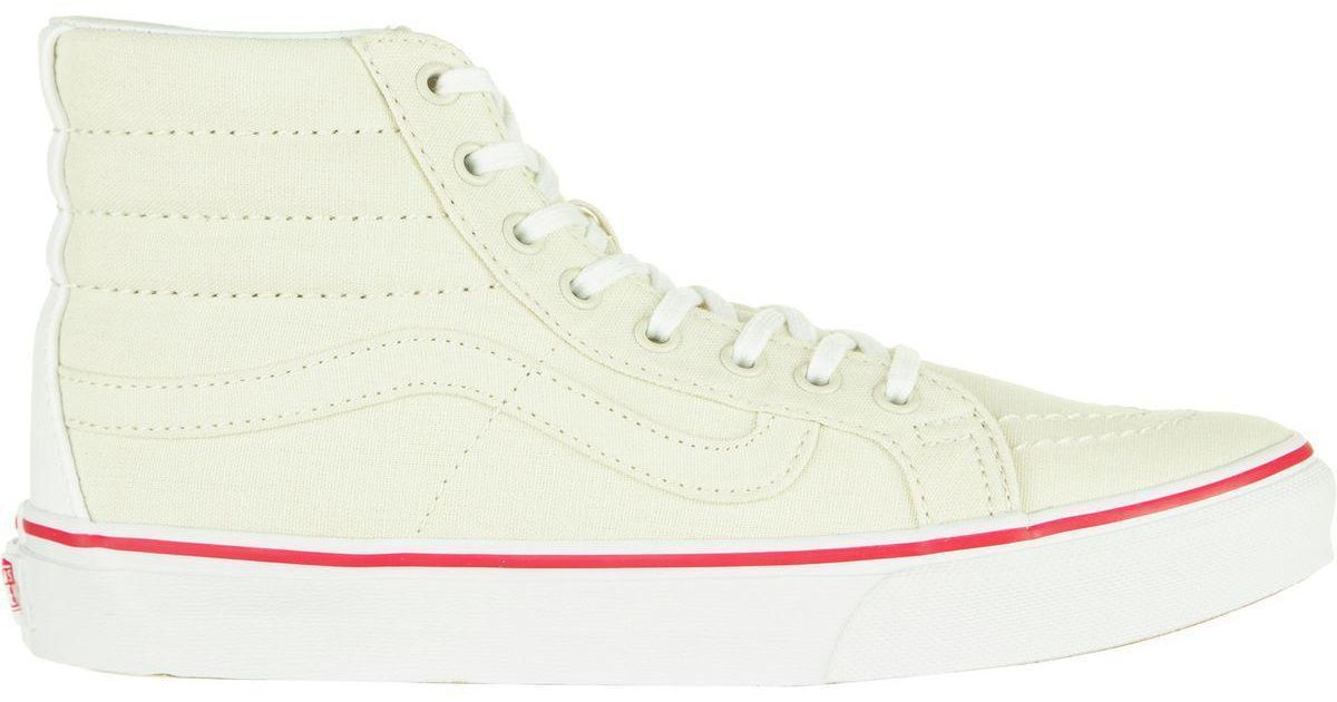 Lyst - Vans Sk8-hi Slim Skate Shoe in White 4c7000123