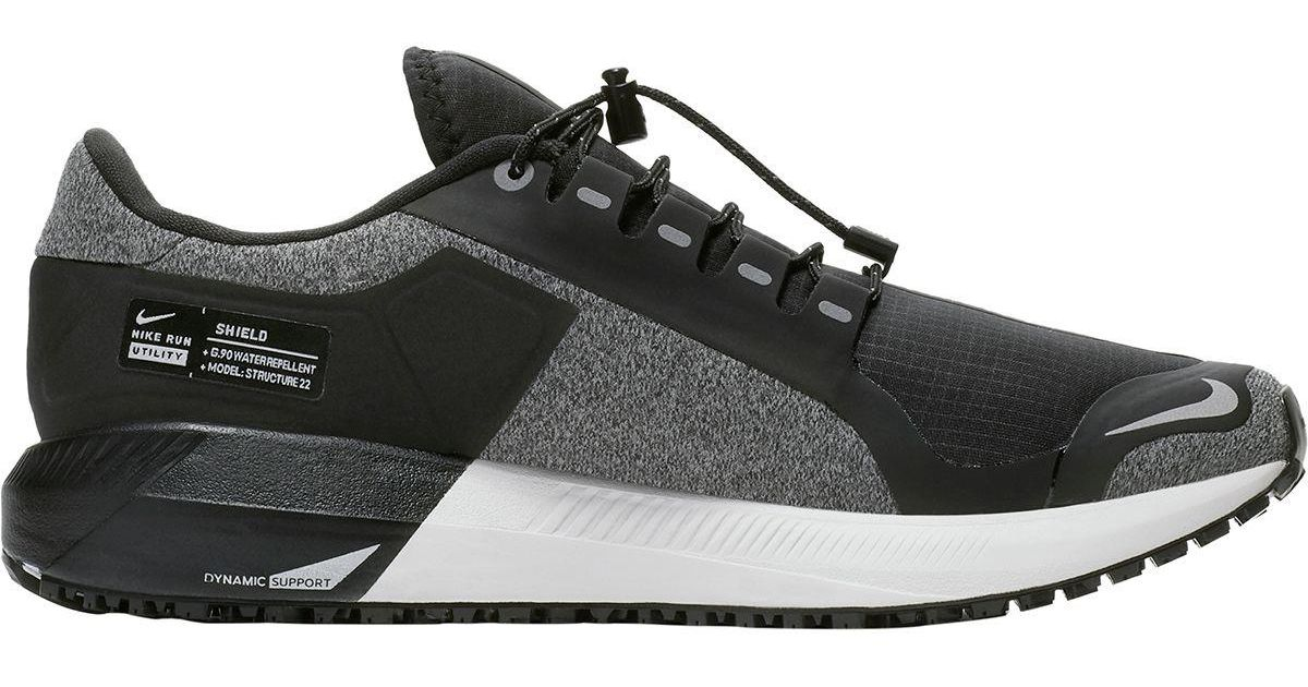 98432b6dc44 Nike Gray Air Zoom Structure 22 Shield Running Shoe
