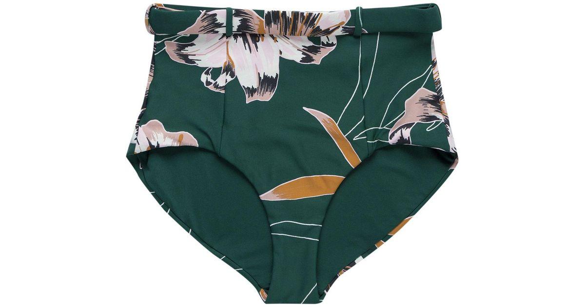 a3037807556ae Lyst - Seafolly Aralia Belted Hi-waist Bikini Bottom in Green
