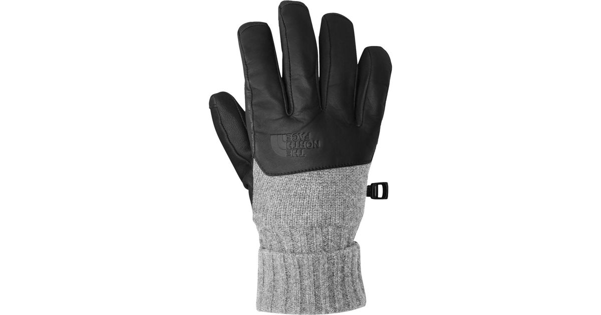 5a93a7a3c59fe Lyst - The North Face Cryos Leather Glove in Gray for Men