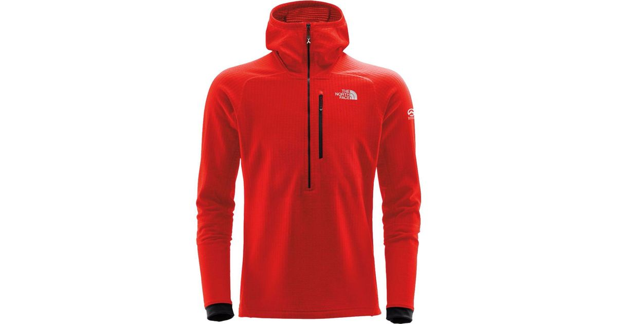 9415cebfe The North Face Red Summit L2 Fuseform Grid Fleece Hooded 1/2-zip Jacket for  men