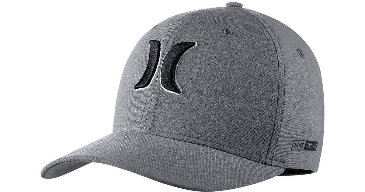 best website 922b7 1d4d2 Hurley Dri-fit Heather Hat in Gray for Men - Lyst