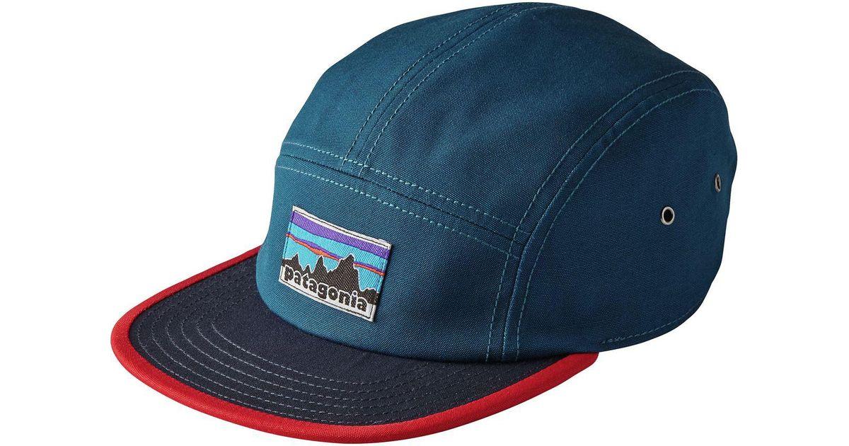 2edb0bec Patagonia Retro Fitz Roy Label Tradesmith 5-panel Cap in Blue for Men - Lyst