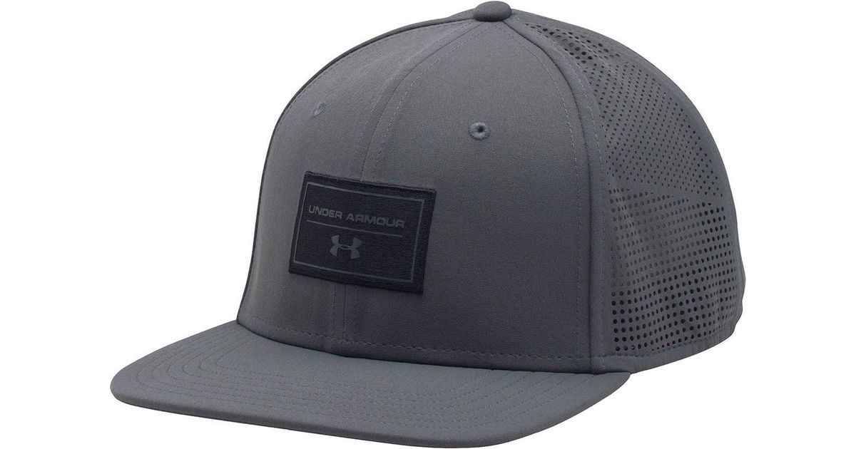 416ffc6bb63 ... best price lyst under armour supervent flat brim snapback hat in black  for men 10c39 ad02d