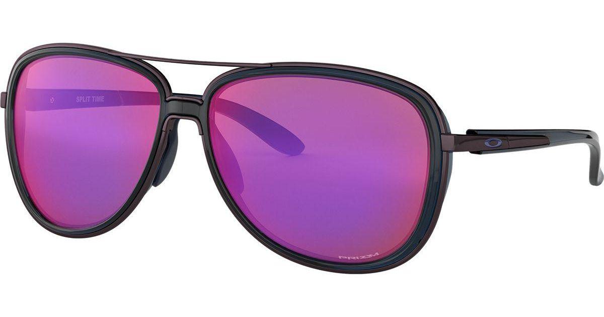 Lyst - Oakley Split Time Prizm Sunglasses in Purple f1b1dbd65359