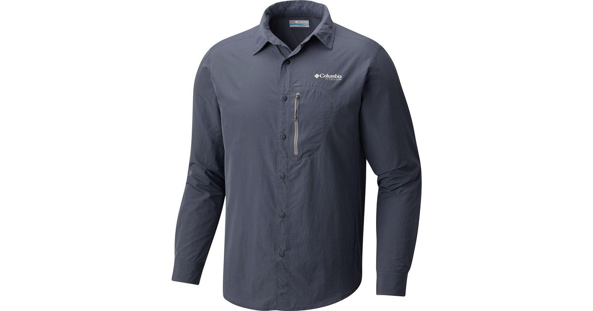 8031723fa97 Columbia Titanium Featherweight Hike Shirt - Long-sleeve in Blue for Men -  Lyst