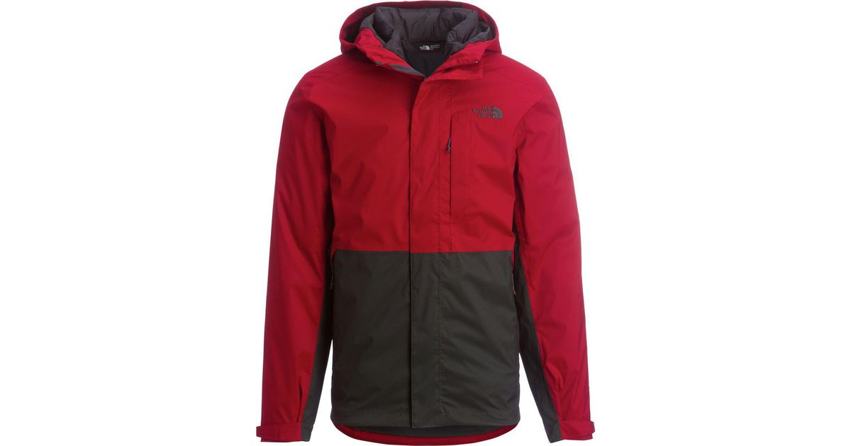 ba9d68731 The North Face Red Altier Down Triclimate Hooded Jacket for men