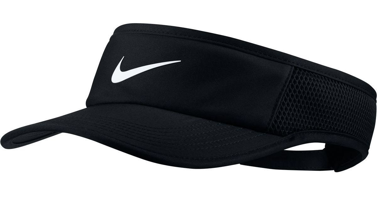 b06bf27145a Lyst - Nike Aerobill Featherlight Adjustable Visor in Black for Men