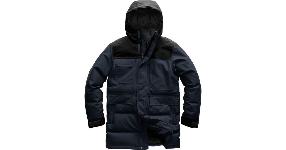 Lyst - The North Face Biggie Mcmurdo Parka in Blue for Men - Save 7% 1b24f4ace