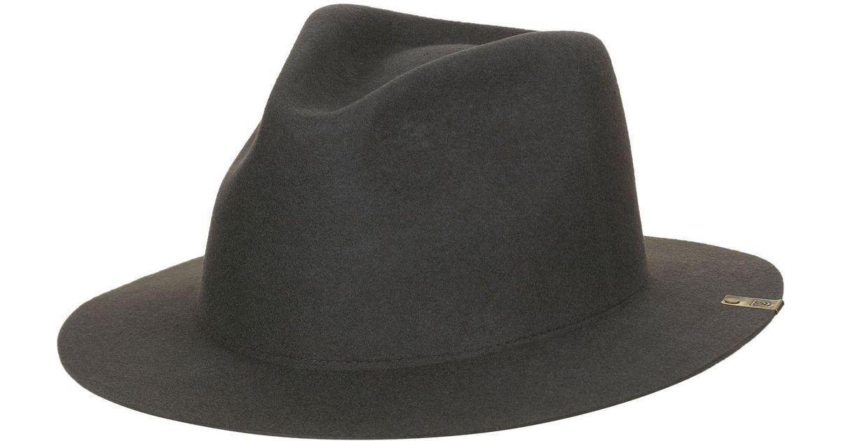 42d778c2ccdfd Brixton Mojave Fedora in Black for Men - Lyst