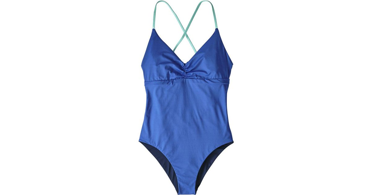 185a11472e Lyst - Patagonia Kupala Reversible One-piece Swimsuit in Blue