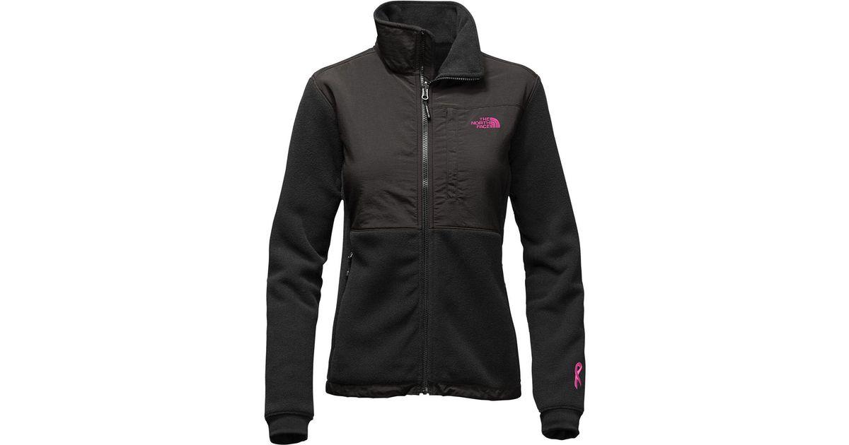 d83f3ade9 The North Face Black Pink Ribbon Denali 2 Jacket