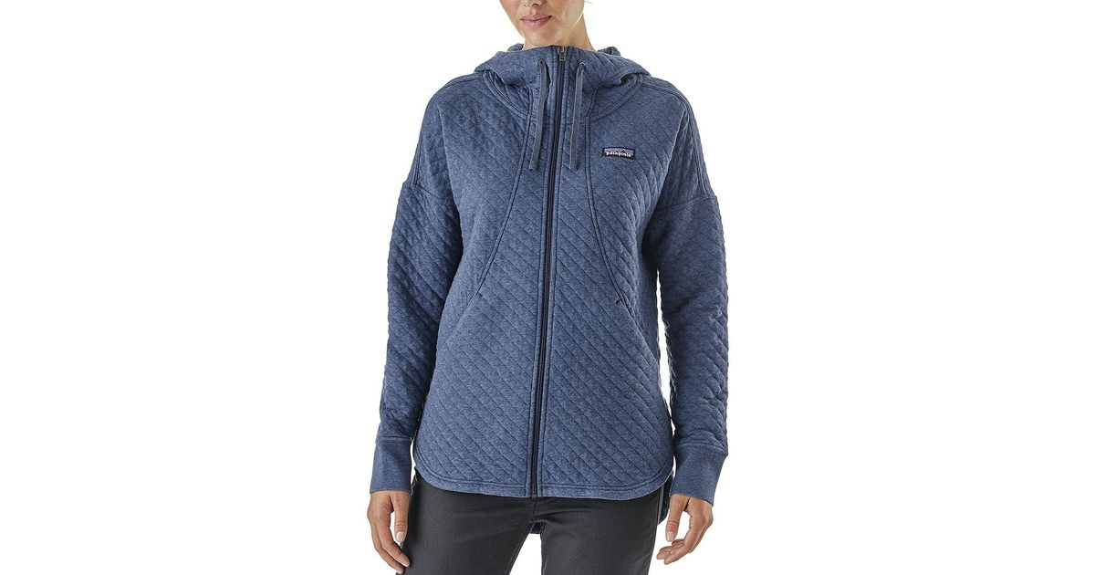 0a715a691e754 Patagonia Blue Cotton Quilt Full-zip Hoodie