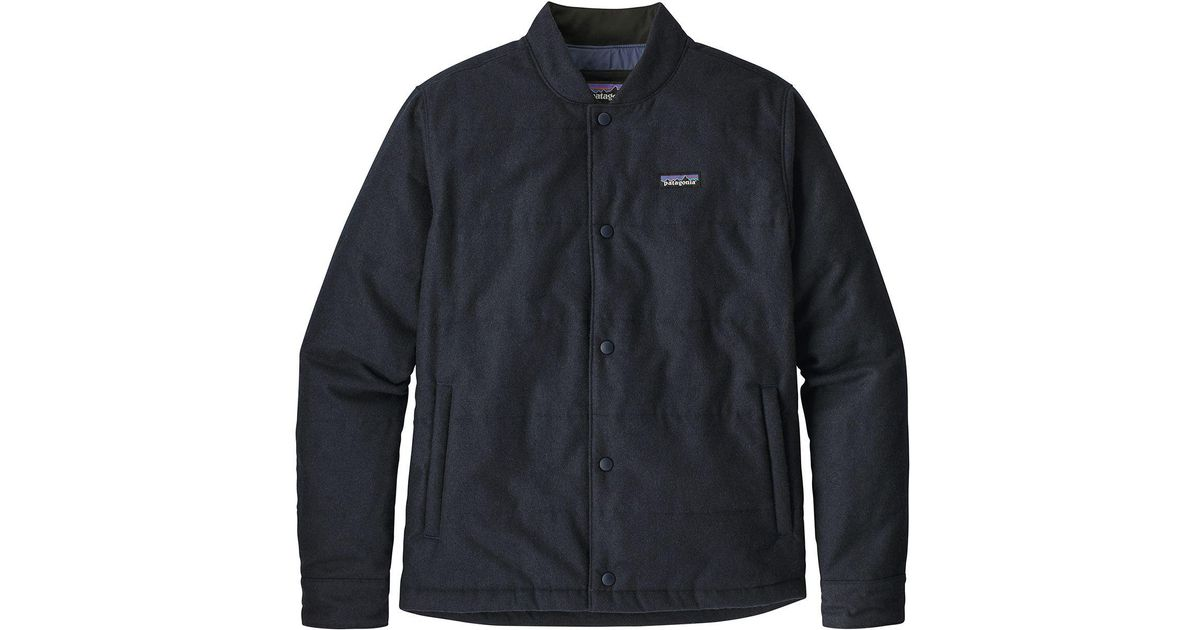 4d365df3d Patagonia Blue Recycled Wool Bomber Jacket for men