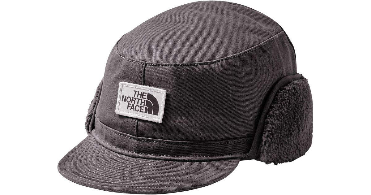 Lyst - The North Face Campshire Earflap Cap in Gray for Men 6aaf9693ce0a