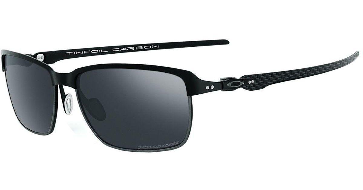 b481acd315f Lyst - Oakley Tinfoil Carbon Sunglasses - Polarized in Black for Men