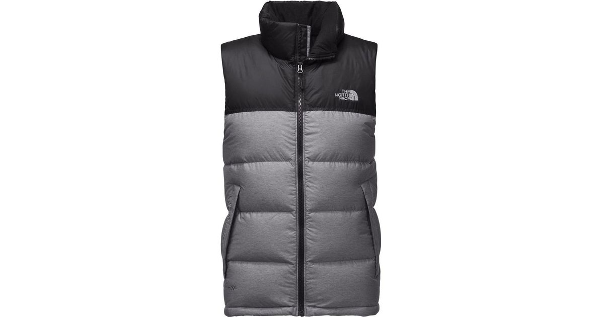 ... coupon code lyst the north face nuptse down vest in gray for men e273c  5aca3 d71df6642