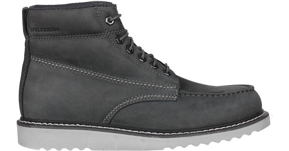9228b119022 Wolverine Gray Ranger Moc Toe Boot for men