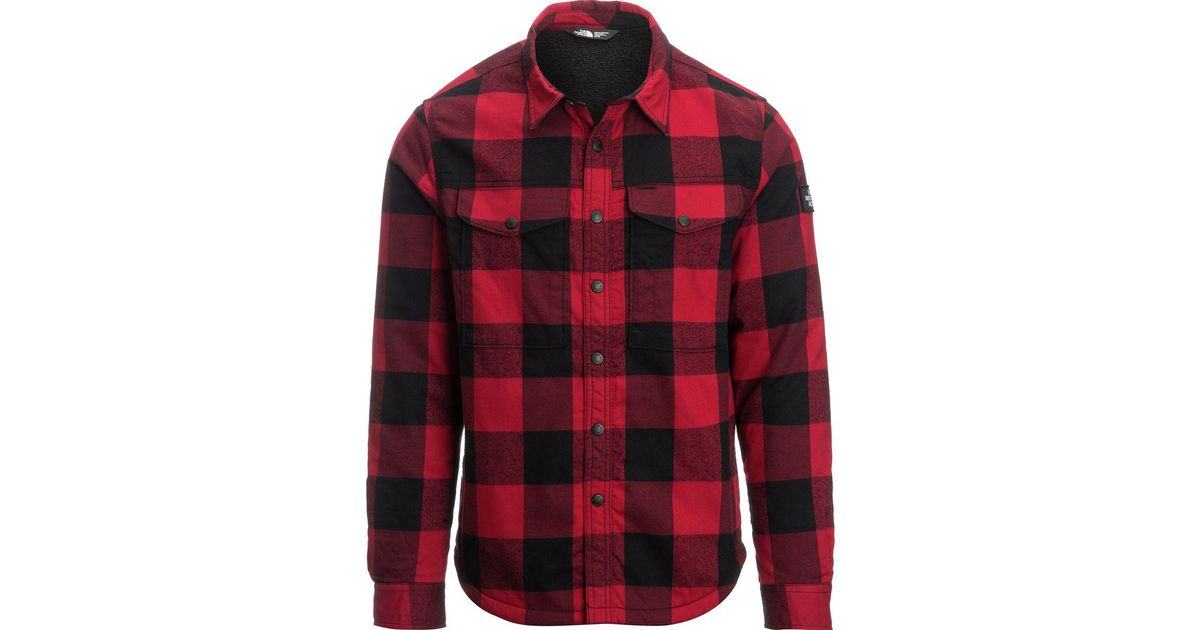 25b950457 The North Face Red Campground Sherpa Shirt Jacket for men