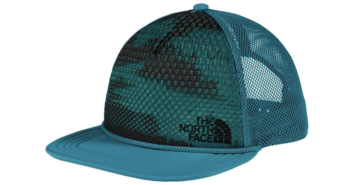 Lyst - The North Face Trail Trucker Hat in Blue for Men 840811066ee