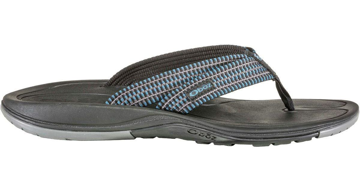 ae77695f6a6a Lyst - Obōz Selway Flip Flop in Blue for Men
