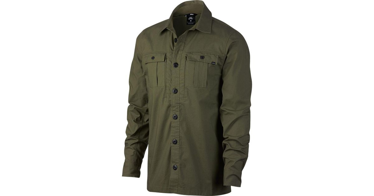 bbaaeb9d99103 Lyst - Nike Sb Flex Top Holgate Long-sleeve Shirt in Green for Men
