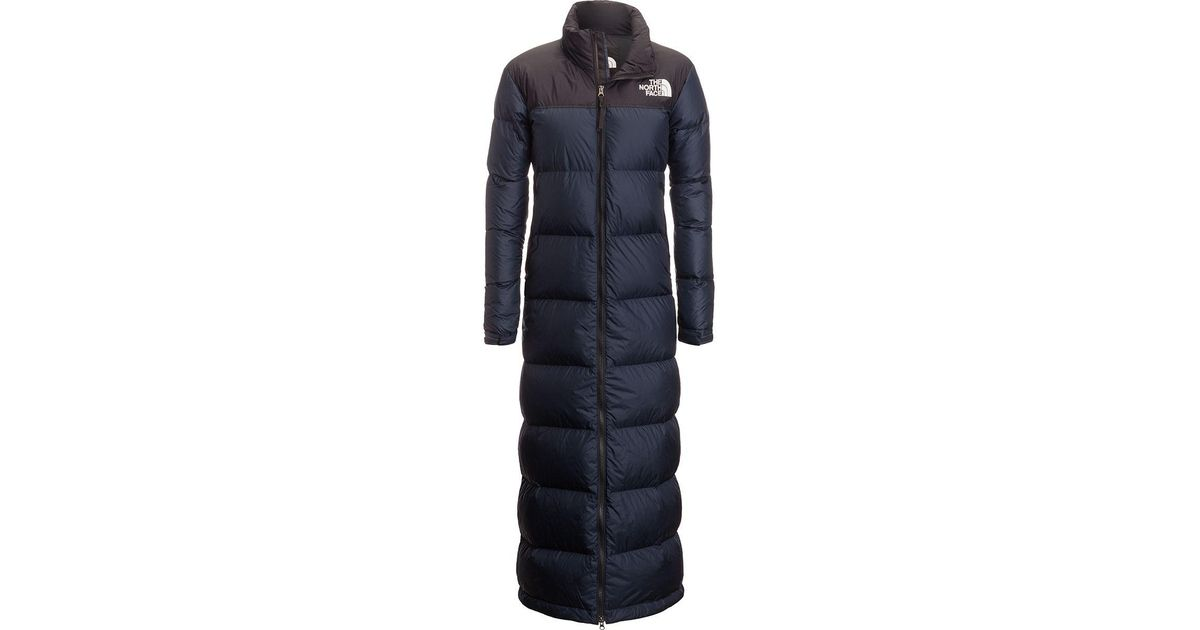 f2c3d7d135a89 The North Face Nuptse Duster Down Jacket in Blue - Lyst