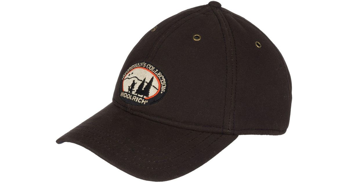 Lyst - Woolrich Oil Cloth Baseball Cap in Brown for Men 294d77dfe0e