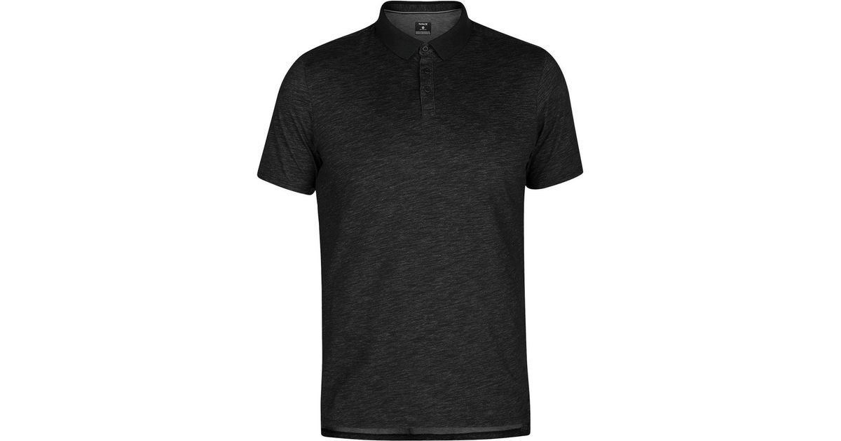5dba4bfc4 free shipping slim fit polo shirt 0645b ef659  shop lyst hurley dri fit  lagos short sleeve polo shirt in black for men ea958 f66a0